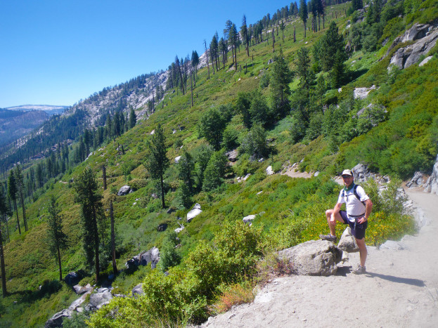 Running down Panoramic Trail from Glacier Point--a blissful ribbon of trail!
