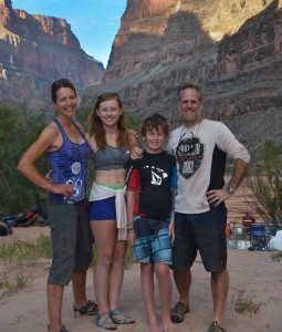 My family and me camping during a Grand Canyon river trip, 2013