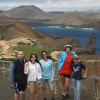 Mihai (left) with his family on a trip to the Galapagos they took last year.