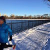 Sarah running CenPark res in snow 2