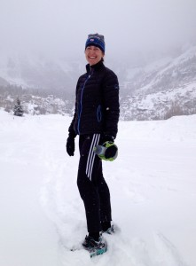 Morgan took this photo of me on one of my Telluride runs, a couple of days before my dad's funeral.