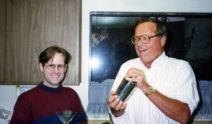 This is how my dad looked in the mid-1990s, pictured here with Morgan: happy, healthier and having good times.
