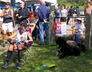 with Teddy at finish
