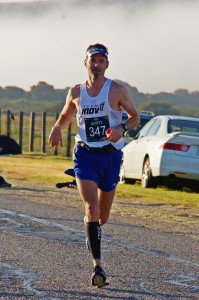 Scott running the Big Sur Marathon last month.