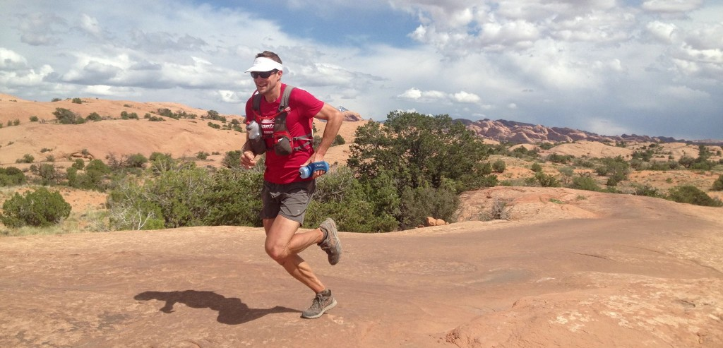 Matt Hart's profile pic on Facebook shows him running Moab.
