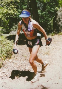 Ann at age 33 en route to her 17:37 course record at Western States in 1994 (photo courtesy www.wser.org)