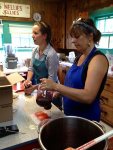 Two of the Deer Isle locals who make jams at Nervous Nellie's.