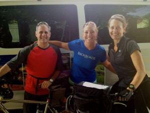 Morgan and me with Hanna at the end of our last ride.
