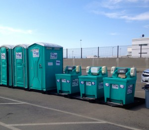 The bathrooms at the toll plaza.