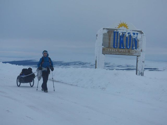 Lynne doing the 6633 Ultra in the Arctic last spring.