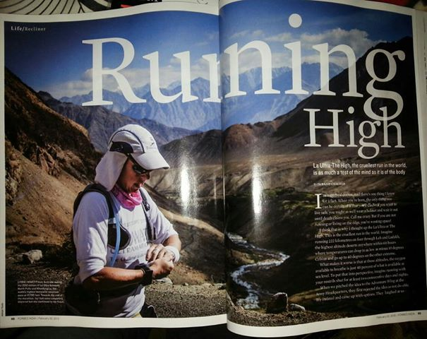 Lynne featured in a magazine story on La Ultra - The High race in 2012, which she did in 58 hours and was one of only 10 finishers.