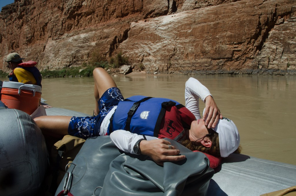 resting on the Colorado River