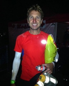 Eric Wilson at the finish of the Rio del Lago 100M last November.