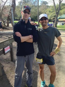 Inside Trail RD Tim Stahler (left) with always-fast-finisher Mark Tanaka (photo courtesy Mark).