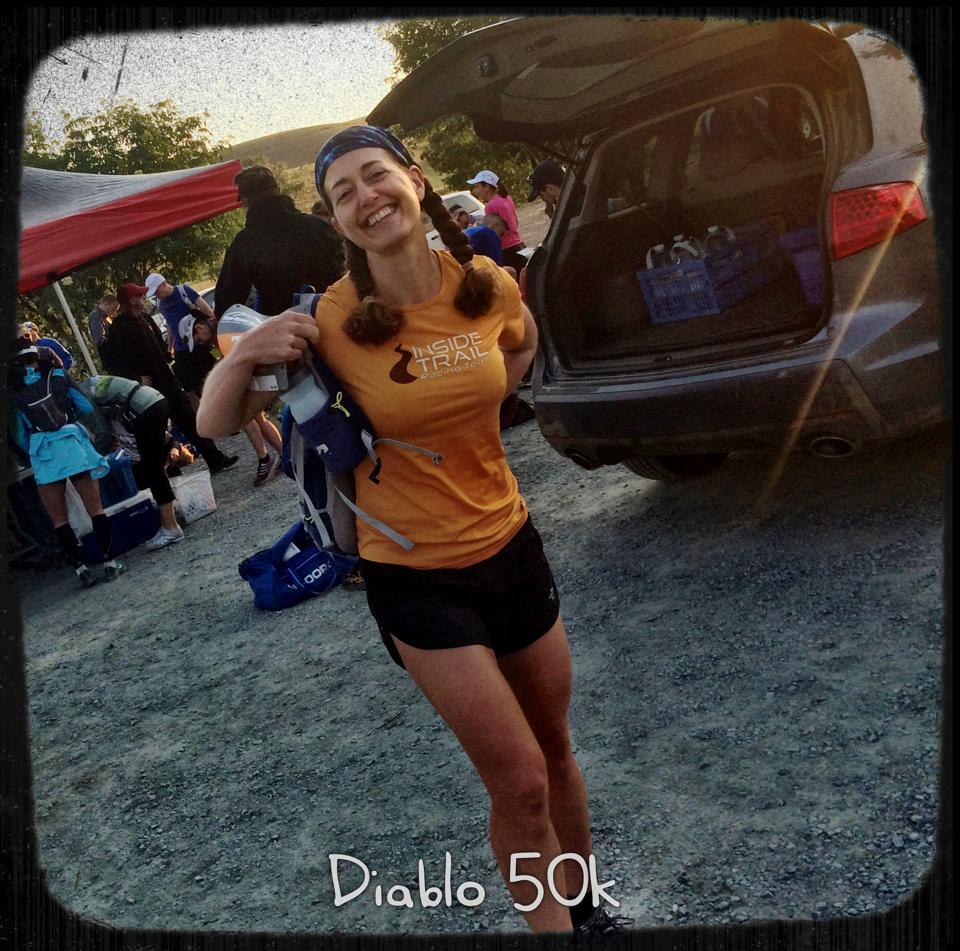 Sarah at start of Diablo 50K