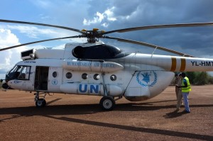 Copter ride to the South Sudan capital Juba