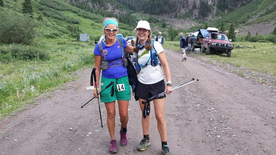 Betsy and me after we reached the Cunningham Aid Station, when I finished my pacing duties and she ran the final nine miles with Helen as her pacer.