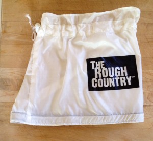 The modified Rough Country Silkworm Gaiter with the top part shortened and a Velcro strip sewn on its inside base.