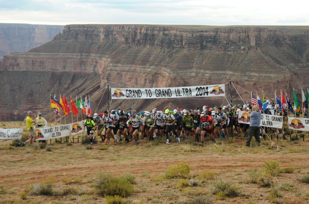 The Sept. 21 start of the Grand to Grand Ultra on the North Rim of the Grand Canyon. Photo courtesy of Grand to Grand Ultra