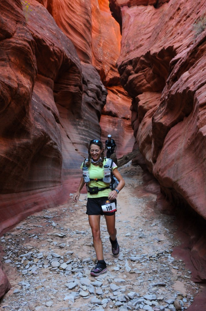 Sarah in slot canyon stage 5