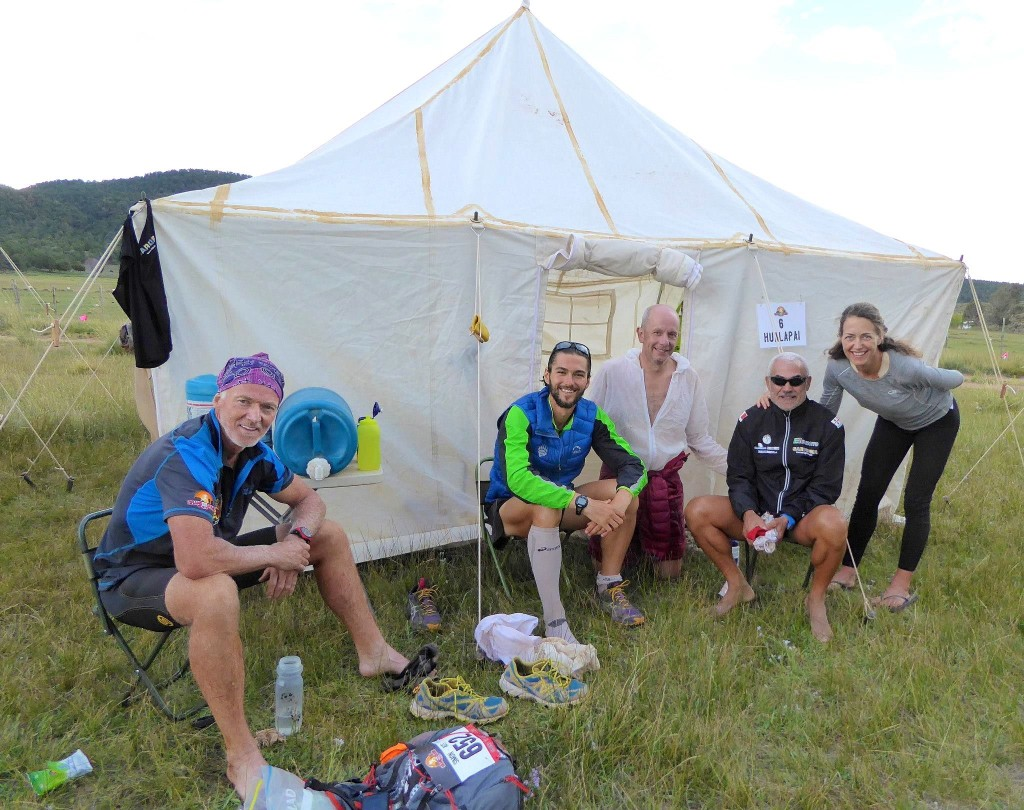 our tent group on last stage