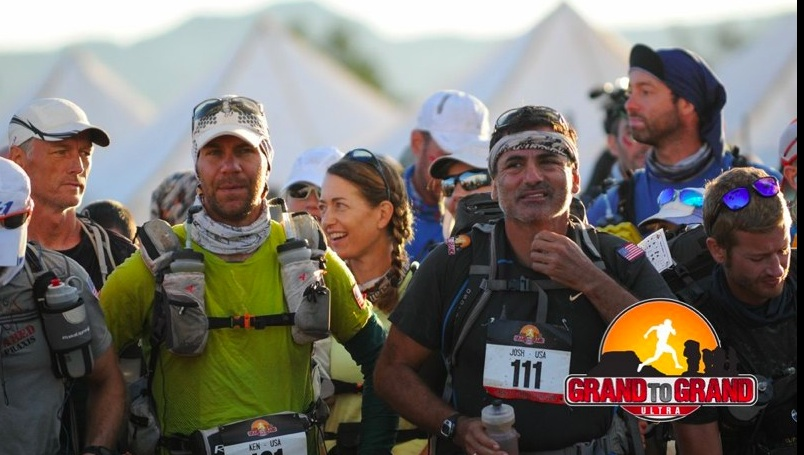 … and me at the start of another stage with a bunch of bad-asses. These last two pics courtesy of Grand to Grand Ultra.