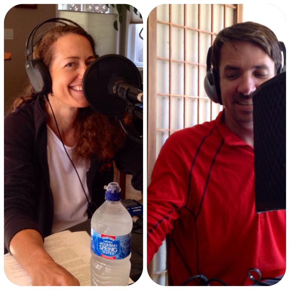 Having fun in the UltraRunnerPodcast.com studio with Eric Schranz.