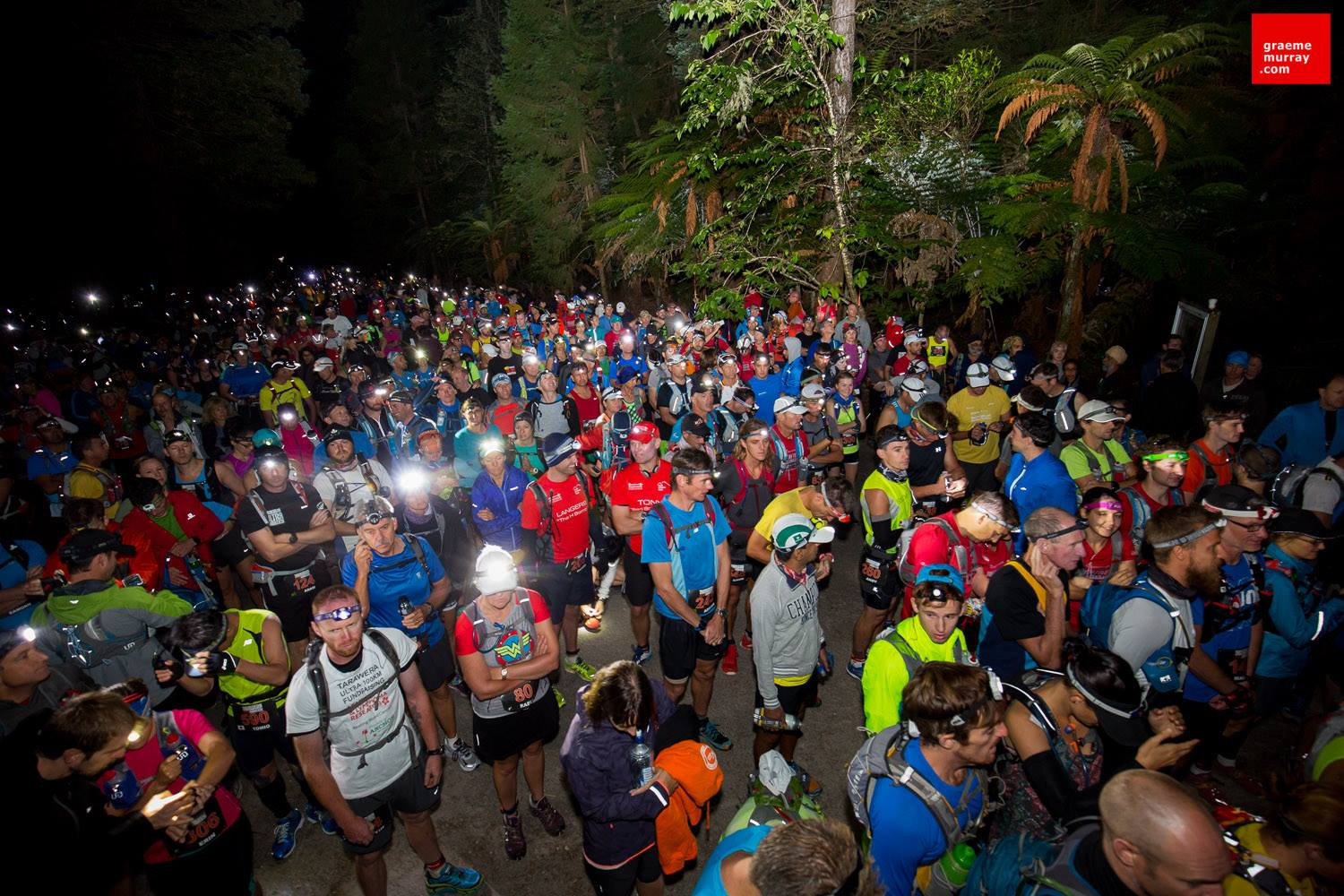 The crowd at the start. (I couldn't find myself in this pic.) Photo by Graeme Murray courtesy Tarawera Ultra.