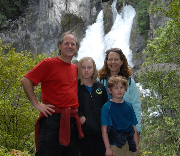 Our family at Tarawera Falls, halfway through the round-the-world journey we took in 2009-10.