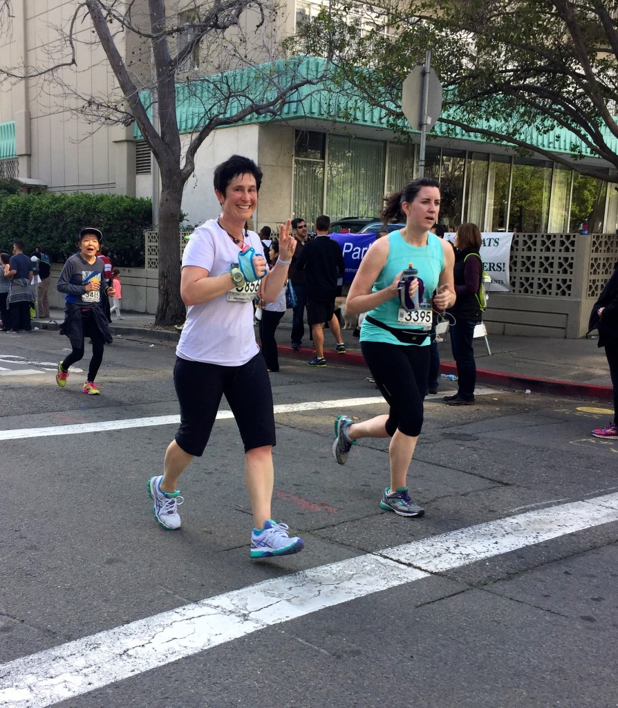 I was so happy to see another one of my clients, Stacey Sklar, finishing the Half strong after a rough patch. She resisted the urge to walk, and she dug deep to speed up at the finish!