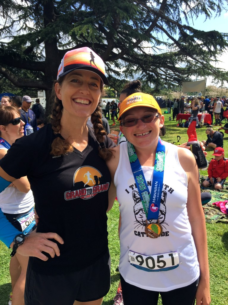 This is my client Kate Panepinto, who ran a relay leg. She's getting ready for American River 50M in a couple of weeks. Actually, I should say, she IS ready!