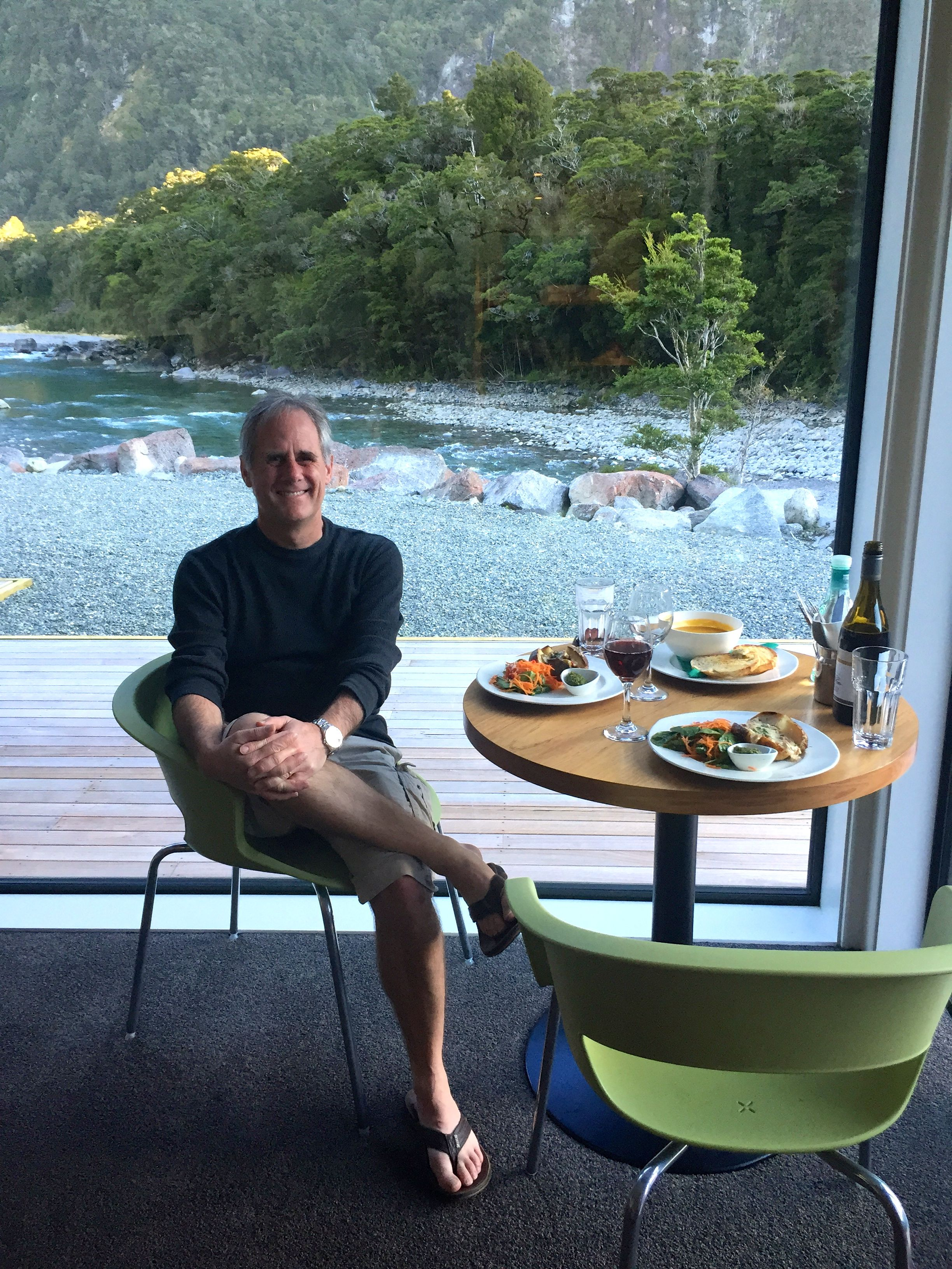 dinner at Milford Sound Lodge