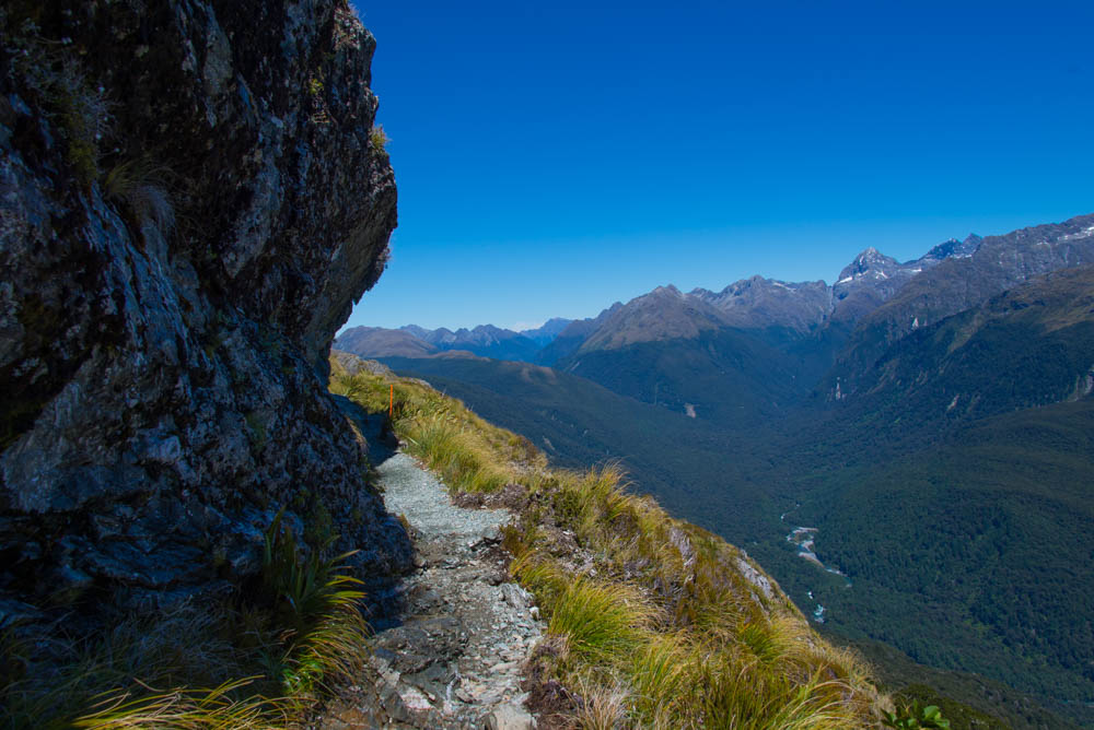 trail down from Harris on Hollyford Face