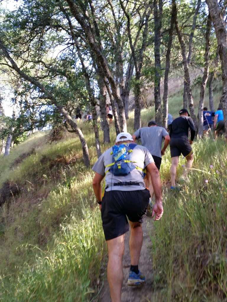 One of the singletrack climbs in the early miles of the Mount Diablo Half Marathon.