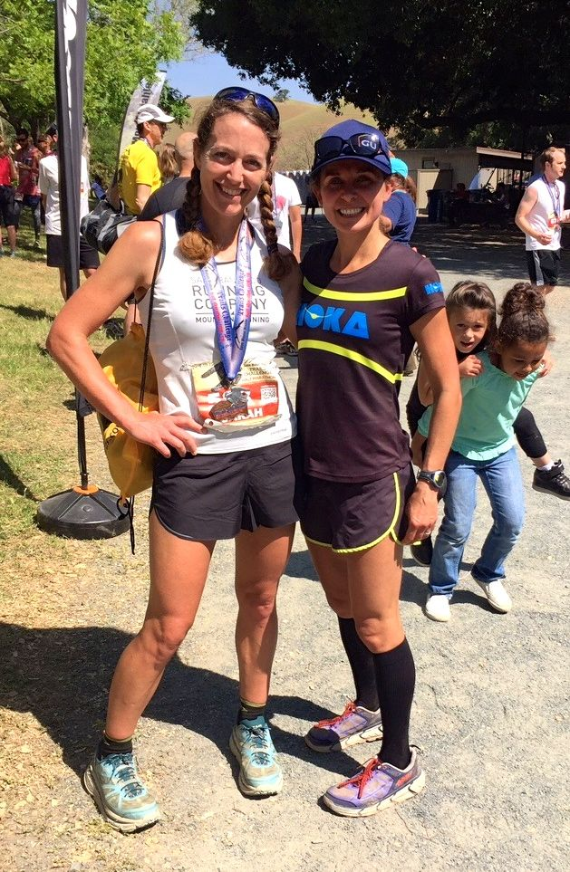 Me with Magdalena Boulet. She is a hometown hero, and I definitely will cheer for her to win Western States in two months!