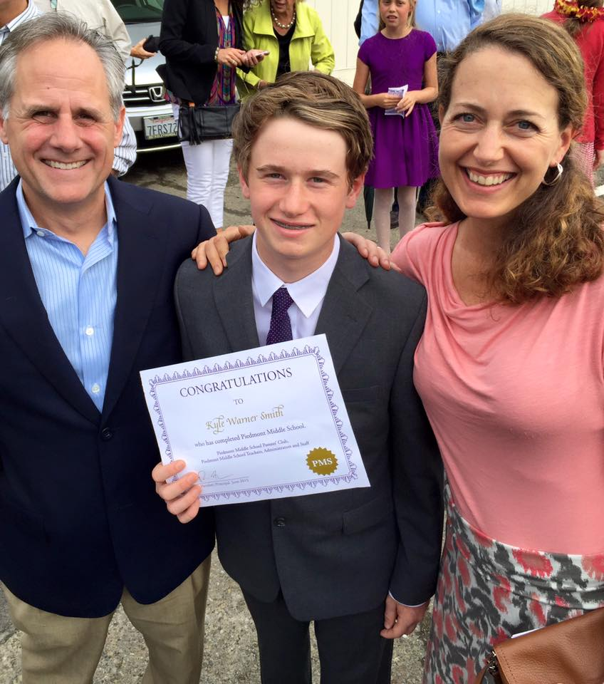 Our son Kyle's 8th grade graduation