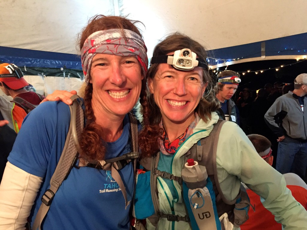 It was so great to see these ladies' smiling faces! Gretchen Brugman, pacing Meghan Hicks, at Ouray.