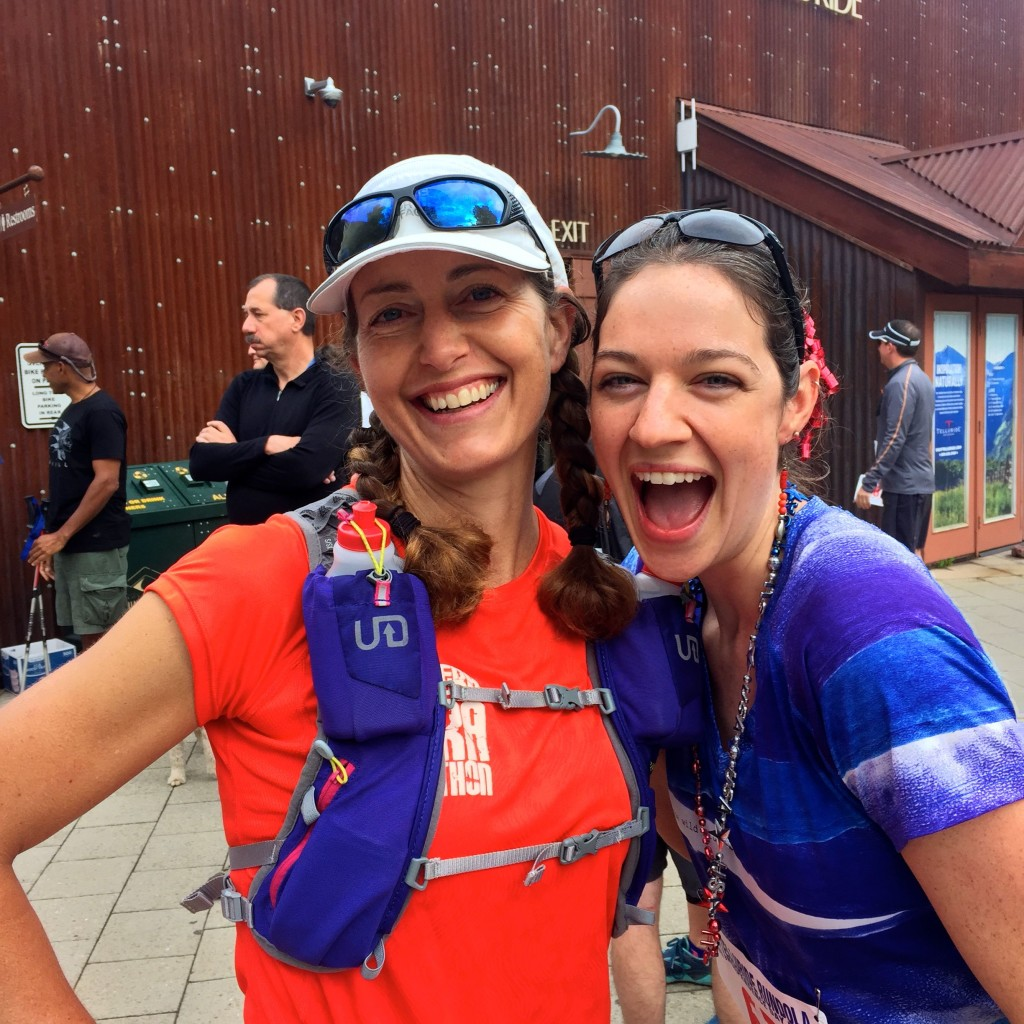 My friend Yitka Winn, a former associate editor at Trail Runner, and me before the July 4 Rundola in Telluride.