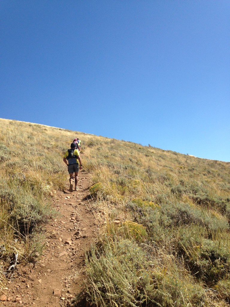 Lots of exposed trail with no shade and temps hitting the high 80s - 90. Photo by Mikal Epperson.