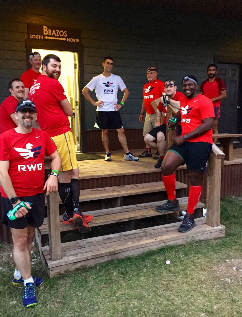 The bunkhouse where I slept and some of the first guys I met on Day 1 of Team RWB trail running camp.