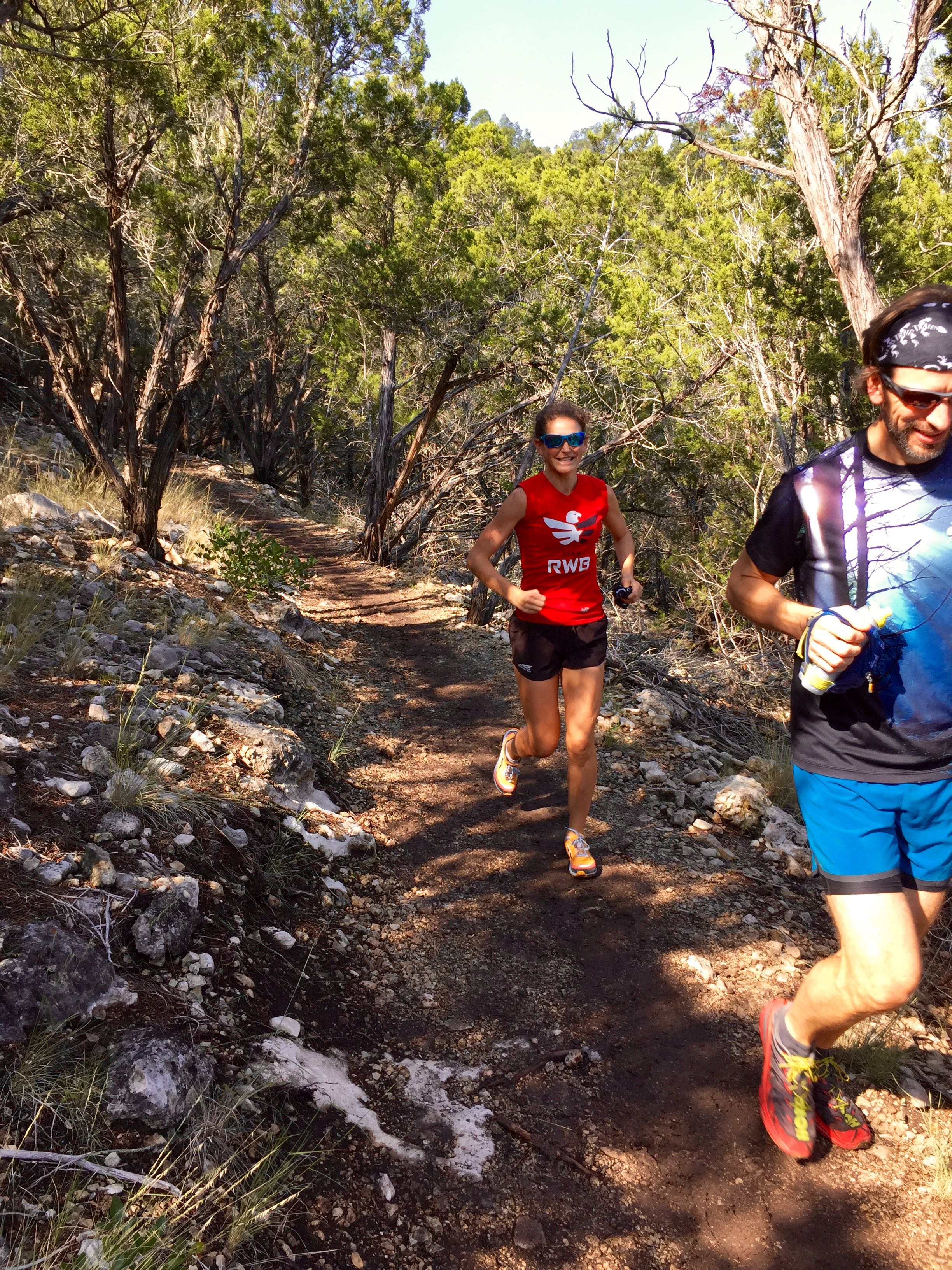 Top-level ultrarunners and great mentors Nicole Struder and Nathan Leeman
