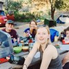My daughter took this family pic with her selfie stick last June as we camped overnight in Pinnacles; note the camp stove on the left.