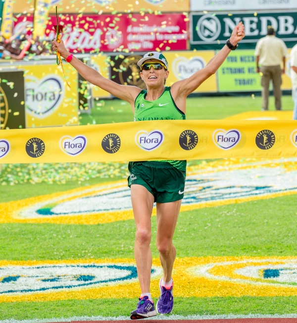 She wanted it bad: Ellie Greenwood tapped motivation to come from behind and close a significant gap to win the 2014 Comrades Marathon. (photo MMPhoto SA via iRunFar.com)