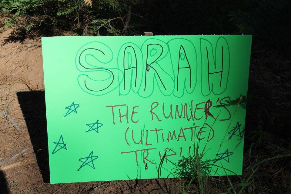 Runners Trip sign at Last Chance AS by Allen Lucas