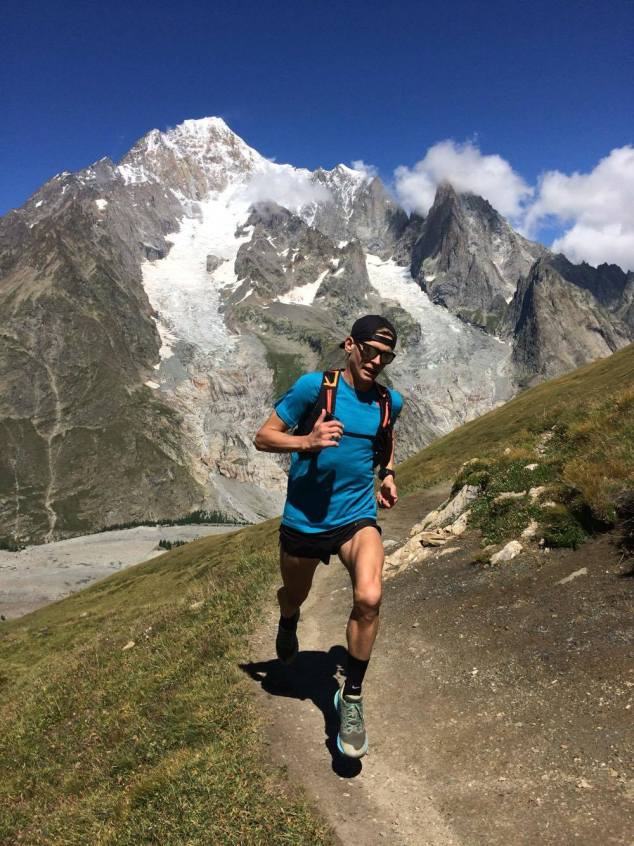 Tim training on the UTMB course a week before the race. Photo by Fernando De Samaniego Steta via Tim's blog